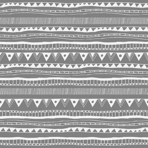 Geometric tribal aztec gray pattern