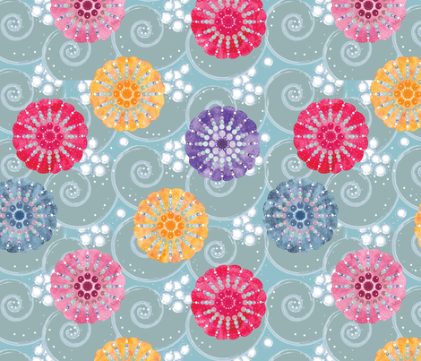Sea Urchins fabric by cathleenbronsky on Spoonflower - custom fabric