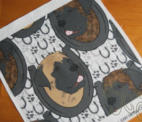 Mastiff horseshoe portraits