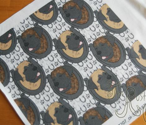 Mastiff horseshoe portraits - small