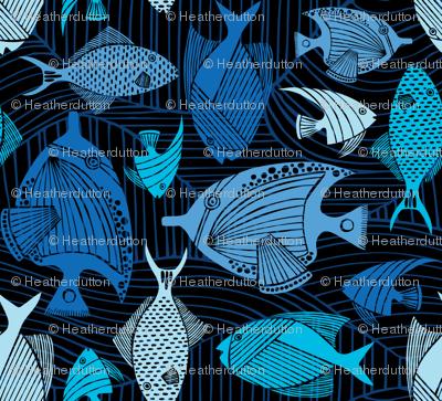 Oceanic - Deep Sea Blue Fish