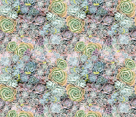 Dreamy Succulents // Greens fabric by foxandfawndesigns on Spoonflower - custom fabric