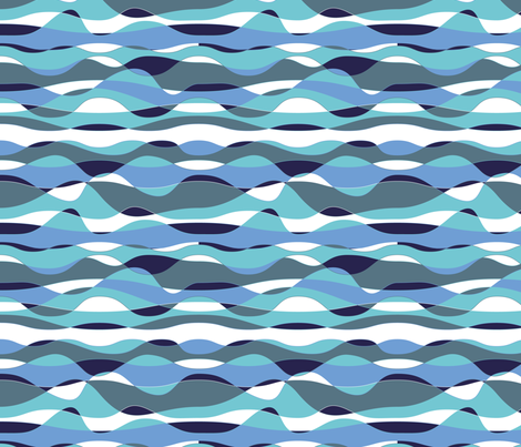 Wave Goodbye fabric by seesawboomerang on Spoonflower - custom fabric