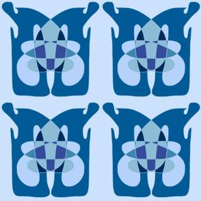 MIYO abstract light blue totem