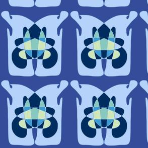 MIYO abstract big blue totem