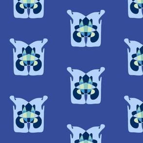 MIYO abstract blue totem