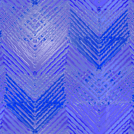 Shiny Blue Chevron Log Cabin fabric by eclectic_house on Spoonflower - custom fabric