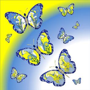 """Cut & Sew Butterfly Dream Pillow 18"""""""