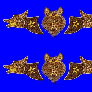 wolf triptich 1 blu