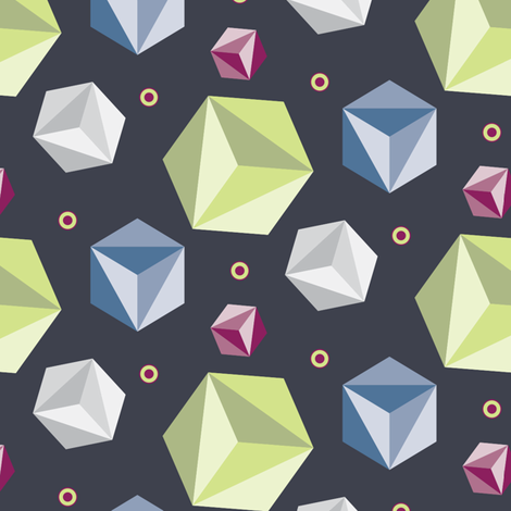 Cubes_Dots_Grey fabric by kimberly_guccione on Spoonflower - custom fabric