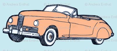 1941 Packard Convertible (peach on blue)