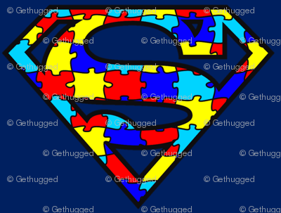 Primary Colors Rainbow Superhero Puzzle