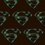 Army Green Camo Superhero Puzzle Pieces