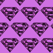 Purple Camo Superhero Puzzle Pieces