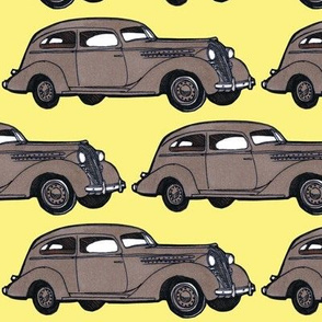 6 inch 1936 Hudson Essex Terraplane tan/yellow facing right