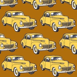 4 inch 1940 Hudson in yellow on brown