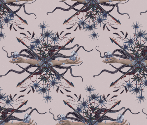 Norwegian bouquet fabric by helganordvik on Spoonflower - custom fabric