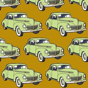 4 inch 1940 Hudson  green/golden tan