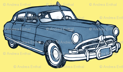 1951 Hudson Hornet blue/yellow