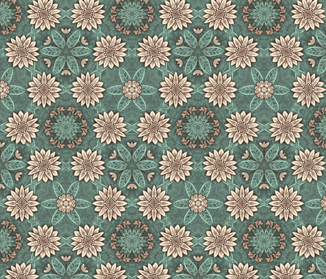 Retro flowers fabric by ailsaek on Spoonflower - custom fabric