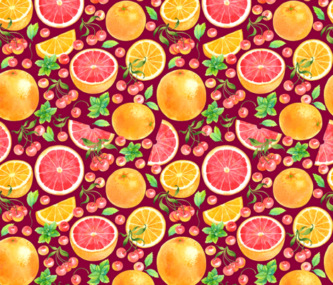 Fruit cocktail fabric by achtung on Spoonflower - custom fabric