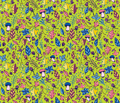 Forest pattern fabric by achtung on Spoonflower - custom fabric