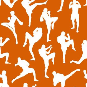 Muay Thai on Dark Orange // Small