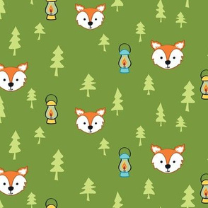 Happy Camper Fox & Lantern
