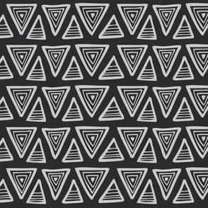 Triangulate - Geometric Black & Grey
