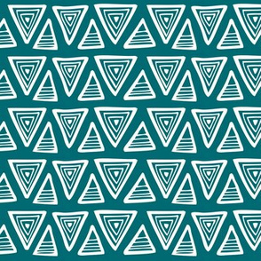 Triangulate - Geometric Dark Teal