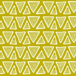 Triangulate - Geometric Mustard Yellow/Green