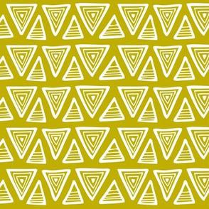 Triangulate - Geometric Mustard Yellow/Green