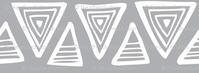 Triangulate - Geometric Grey