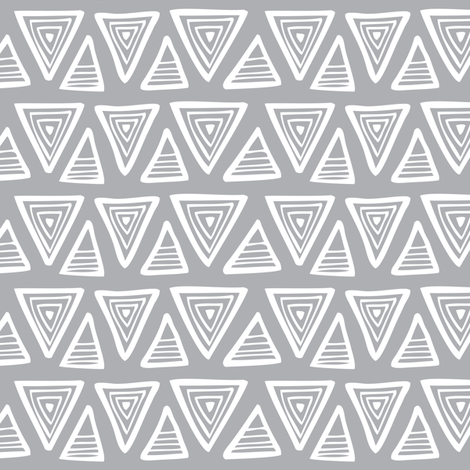Triangulate - Geometric Grey fabric by heatherdutton on Spoonflower - custom fabric