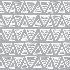 Triangulate - Geometric Grey