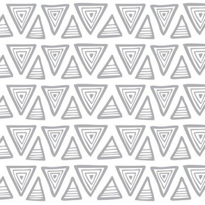 Triangulate - Geometric White & Grey