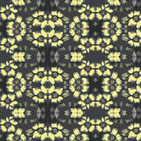 Banana flower on black fabric by fallingladies on Spoonflower - custom fabric