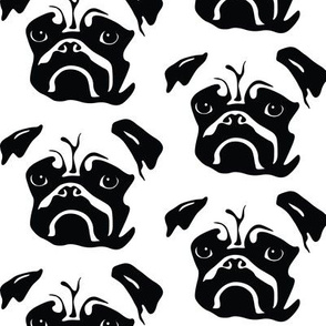 Pug Small Black and White
