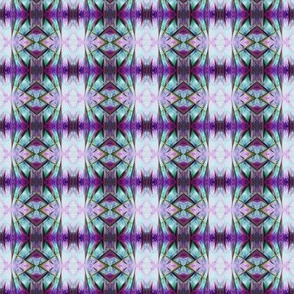 BNS2 - Mini Stained Glass Stripes in purple and aqua