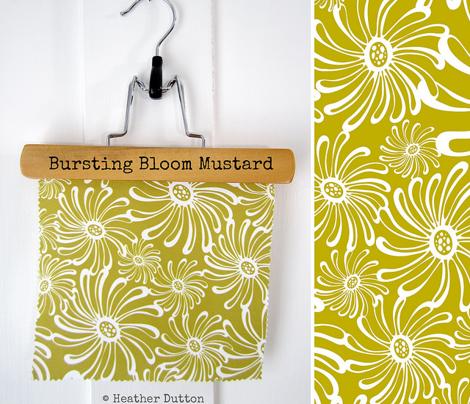 Bursting Bloom Floral - Mustard Yellow/Green