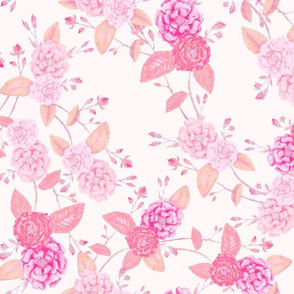 Roses Chinoserie Soft Pinks