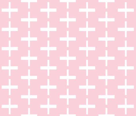 Pink Cross fabric by lilcubby on Spoonflower - custom fabric