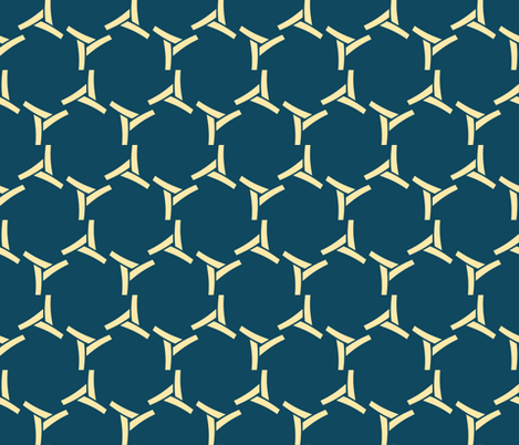 Blue Kilter fabric by edjeanette on Spoonflower - custom fabric