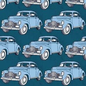 1939 Studebaker light blue on teal
