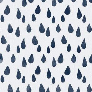 Navy Watercolor Rain