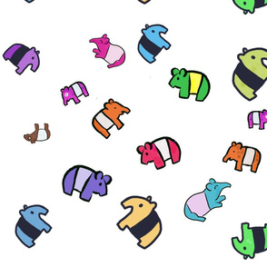 Mini Tapir Rainbow Scatter