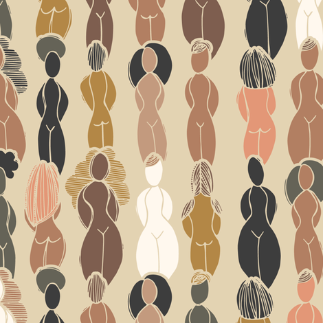 Sisterhood in Persist Colorway fabric by tiffanyheiger on Spoonflower - custom fabric