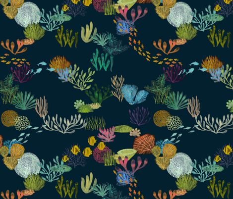 Life in the Great Barrier Reef fabric by ceciliamok on Spoonflower - custom fabric