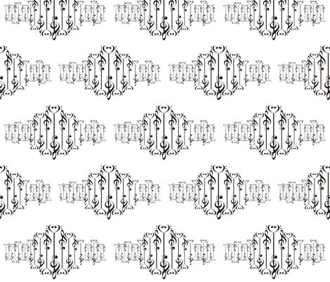 Music Sound Wave fabric by llchemi on Spoonflower - custom fabric
