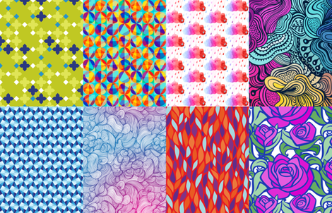 Print Blocks Abstract Designs Fat Quarter fabric by versodile on Spoonflower - custom fabric